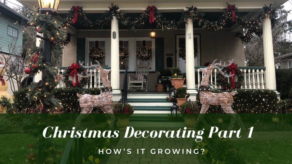 Outdoor Garden Christmas Decorating – Part 1 🦌🎄 | How's It Growing?