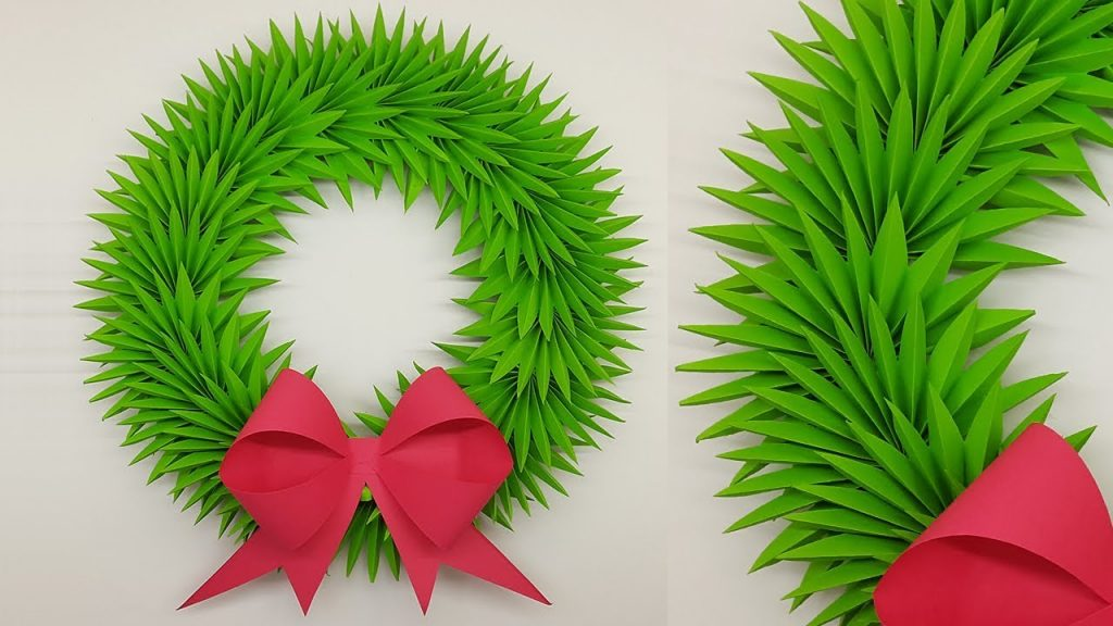 Paper Wreath for Christmas Decorations Ideas | How to Make Paper Christmas Wreath