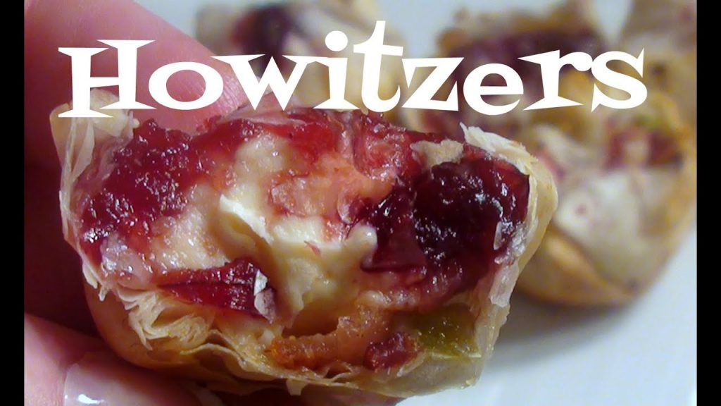 Phyllo Pastry Appetizers with Cranberry, Cheese, and Bacon ~ Christmas Recipe