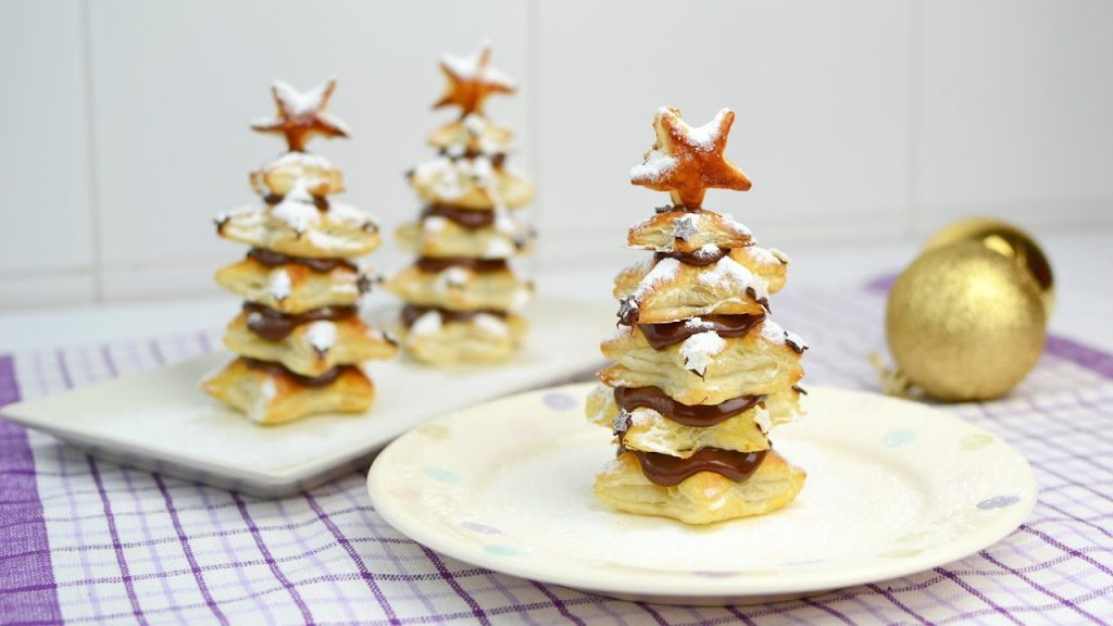 Puff Pastry Christmas Trees with Nutella – Easy Christmas Dessert Recipe