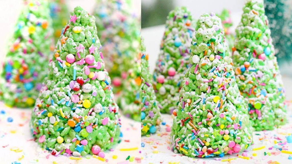 QUICK & EASY Rice Krispie Christmas Trees | RECIPE
