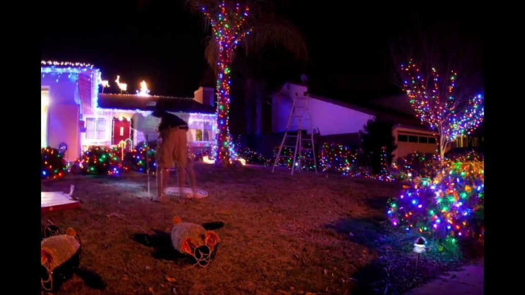 Setting Up the Christmas Lights Time Lapse. December 2011. Santee, California.