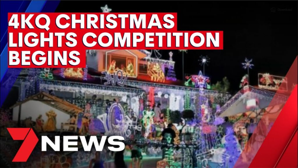 Start of the annual 4KQ Christmas Lights competition | 7NEWS