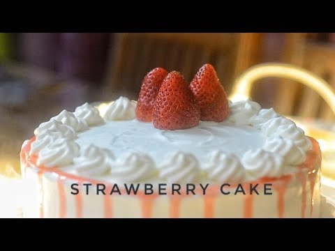 Strawberry Cake | Eggless Strawberry Cake | Christmas Recipe | Christmas Cake – Reena Ki Rasoi