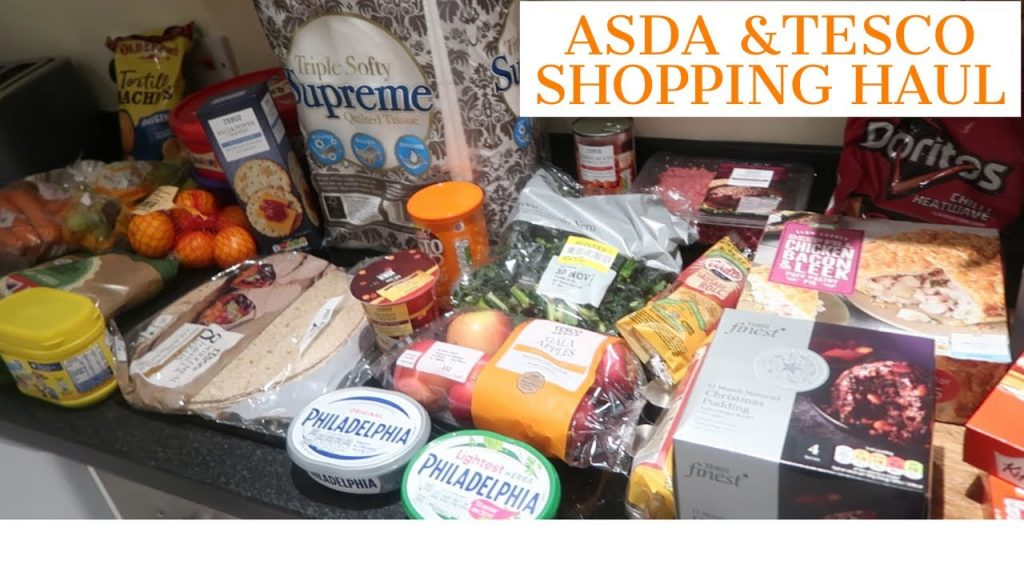 TESCO /ASDA SHOPPING HAUL /CHRISTMAS LIGHTS