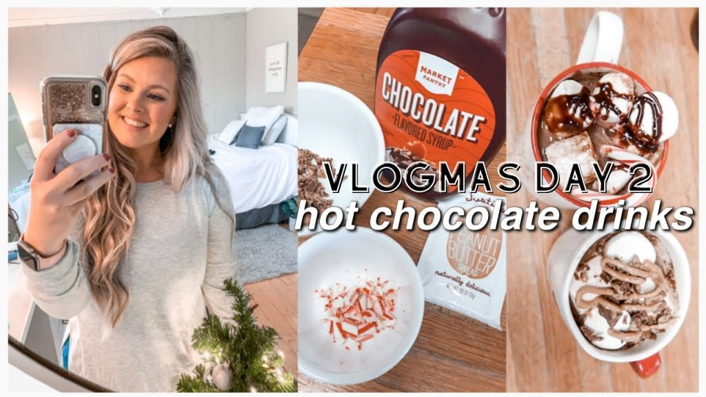 VLOGMAS DAY 2: HOT CHOCOLATE DRINKS & CHRISTMAS LIGHTS