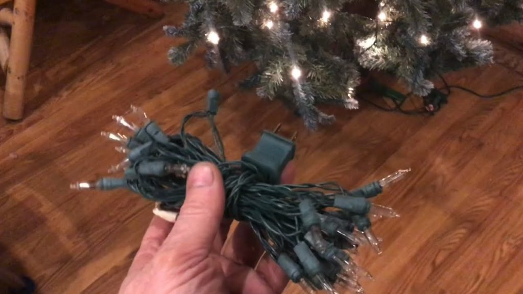 "how to ""wrap"" Christmas lights WITHOUT TANGLING"