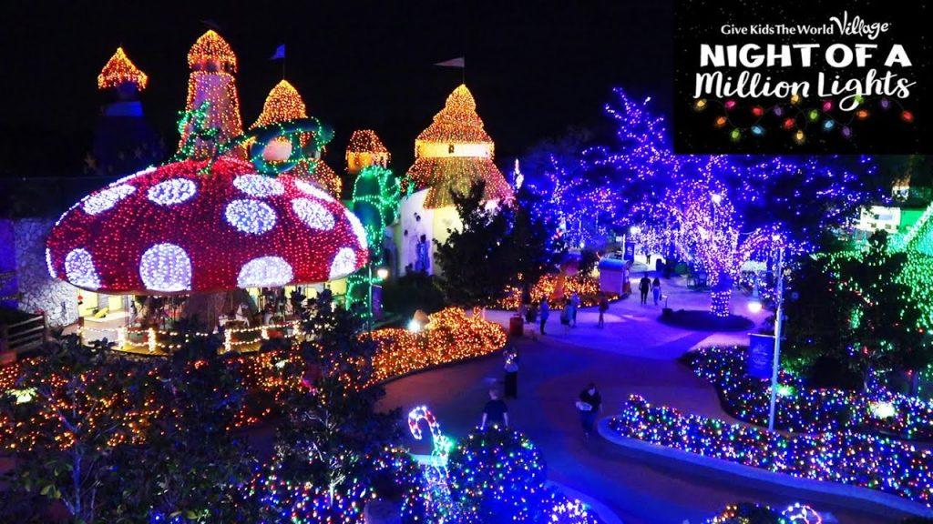 """Night of a Million Lights"" at Give Kids the World Village – 3 MILLION Christmas Light Tour 2020"